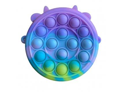 Pop It antistresová hračka kabelka kruh 10,5 cm pastelová