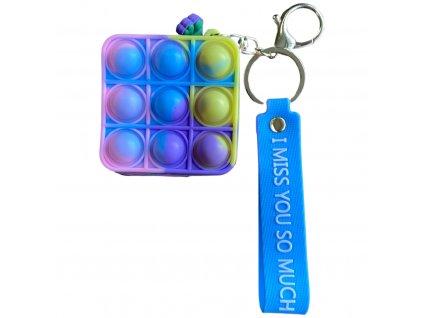 Pop It antistresová hračka peněženka čtverec 6,5 cm