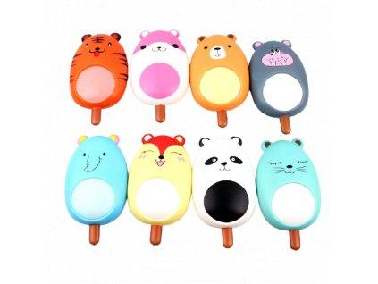 Klíčenka squishy antistresová mačkací hračka Zvířátko 8 cm
