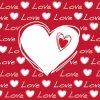 Ubrousky - Srdce /červeno-bílá