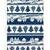Vánoční sáček - modrá - velký