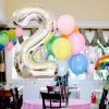 Nafukovací balónky čísla maxi stříbrné - 4