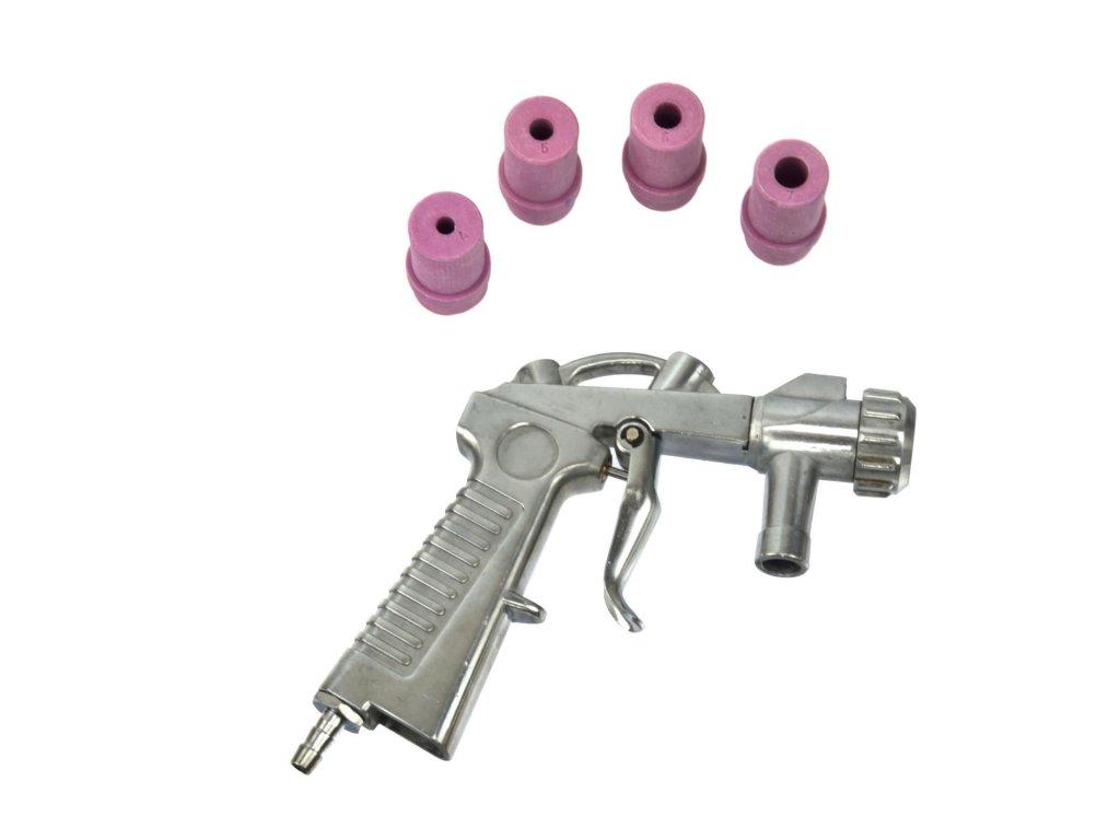 Pieskovacia pištoľ + nadstavce