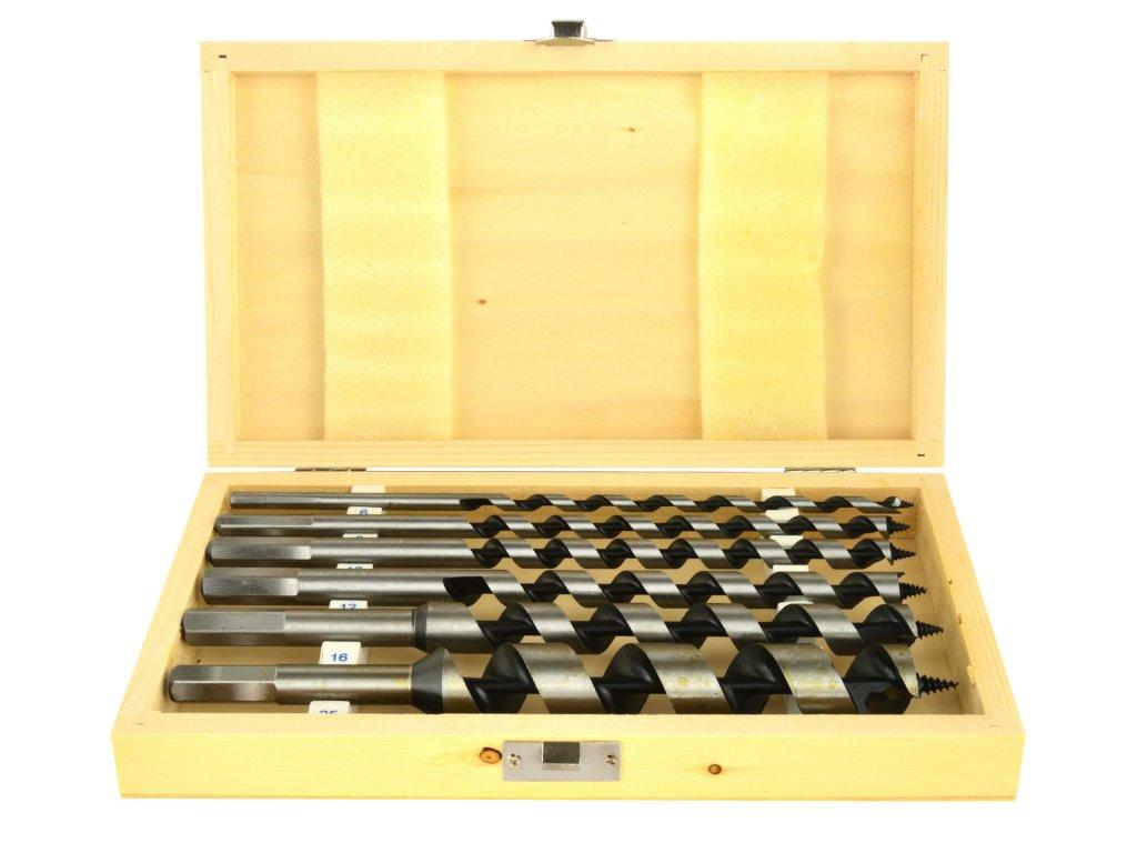 Vrtáky do dreva špirálové 230mm 6ks 6mm – 25mm