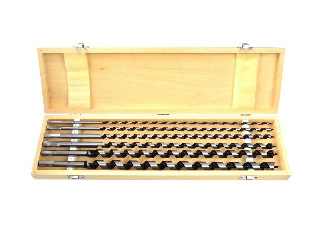Vrtáky do dreva špirálové 460mm 6ks 6mm – 18mm