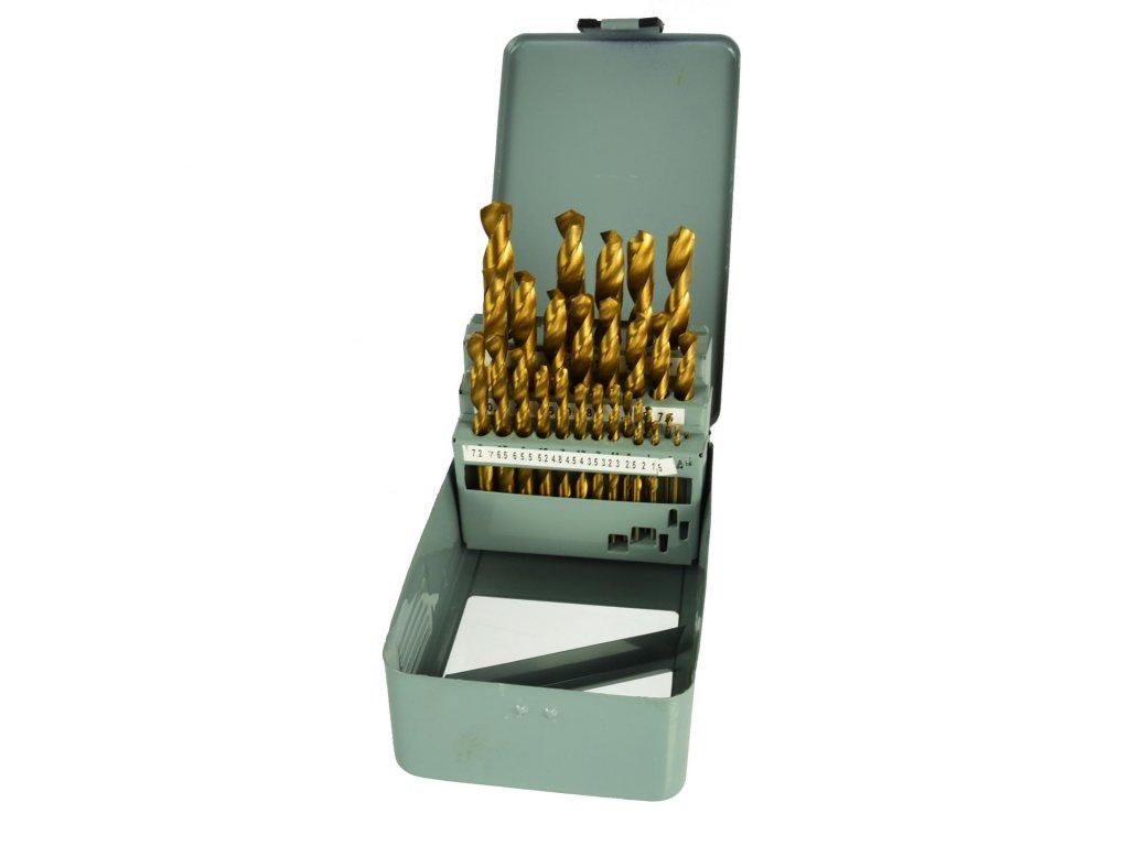 Sada titánových vrtákov HSS do kovu 29ks 1,5mm – 12,7mm
