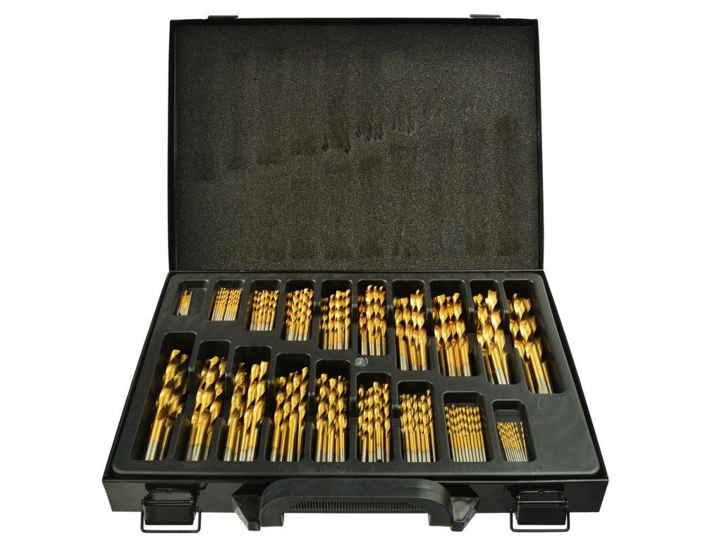 Sada titánových vrtákov HSS do kovu 170ks 1,5mm – 10mm