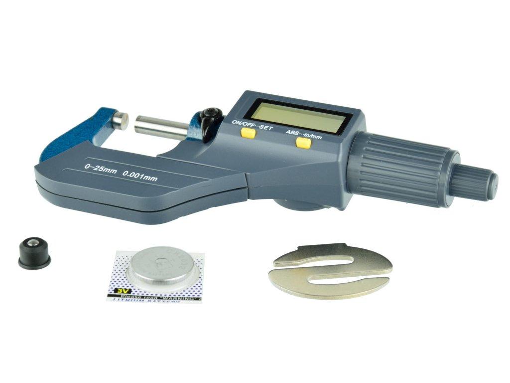 Strmeňový mikrometer digitálny 0-25mm