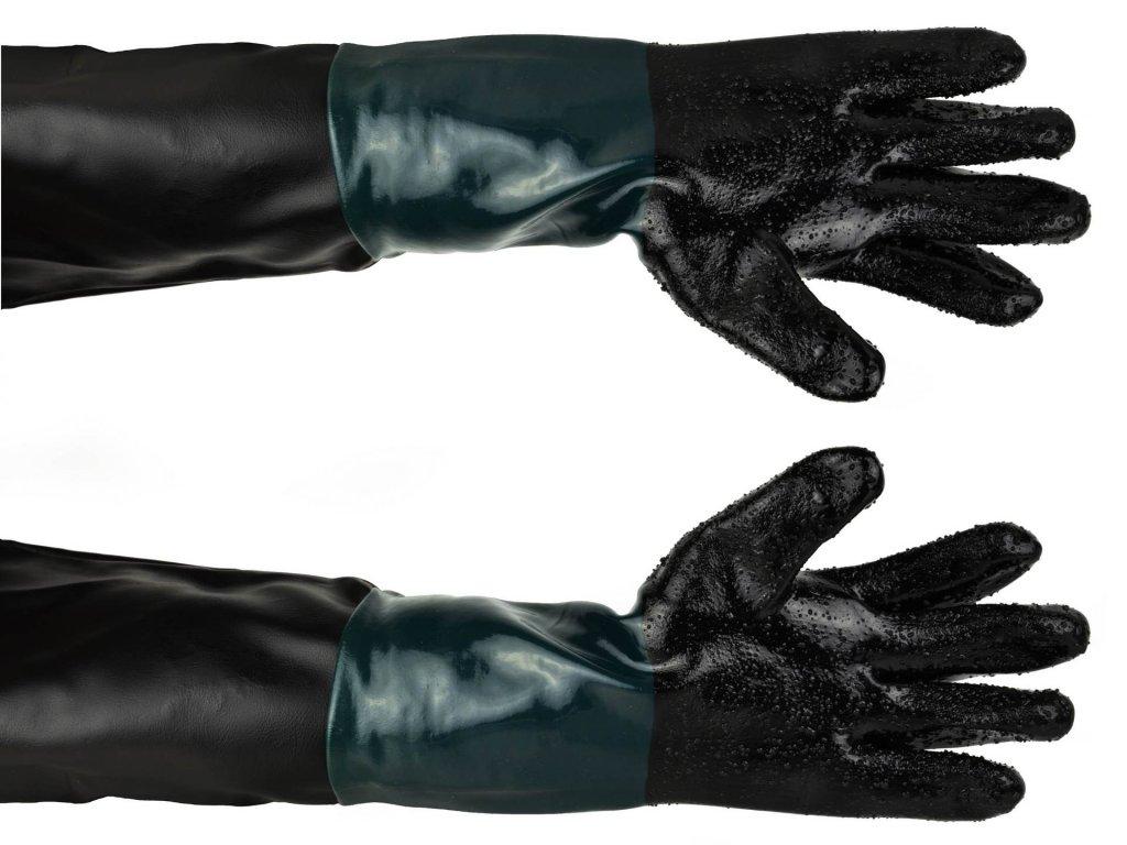 Ochranné rukavice na pieskovanie
