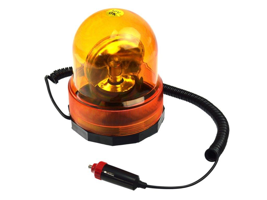 Maják na auto magnetický - oranžový 12V