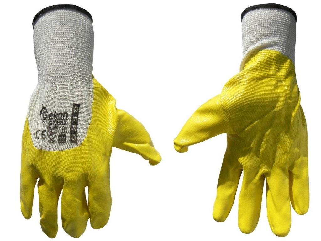 "Pracovné rukavice 10"" yellow"
