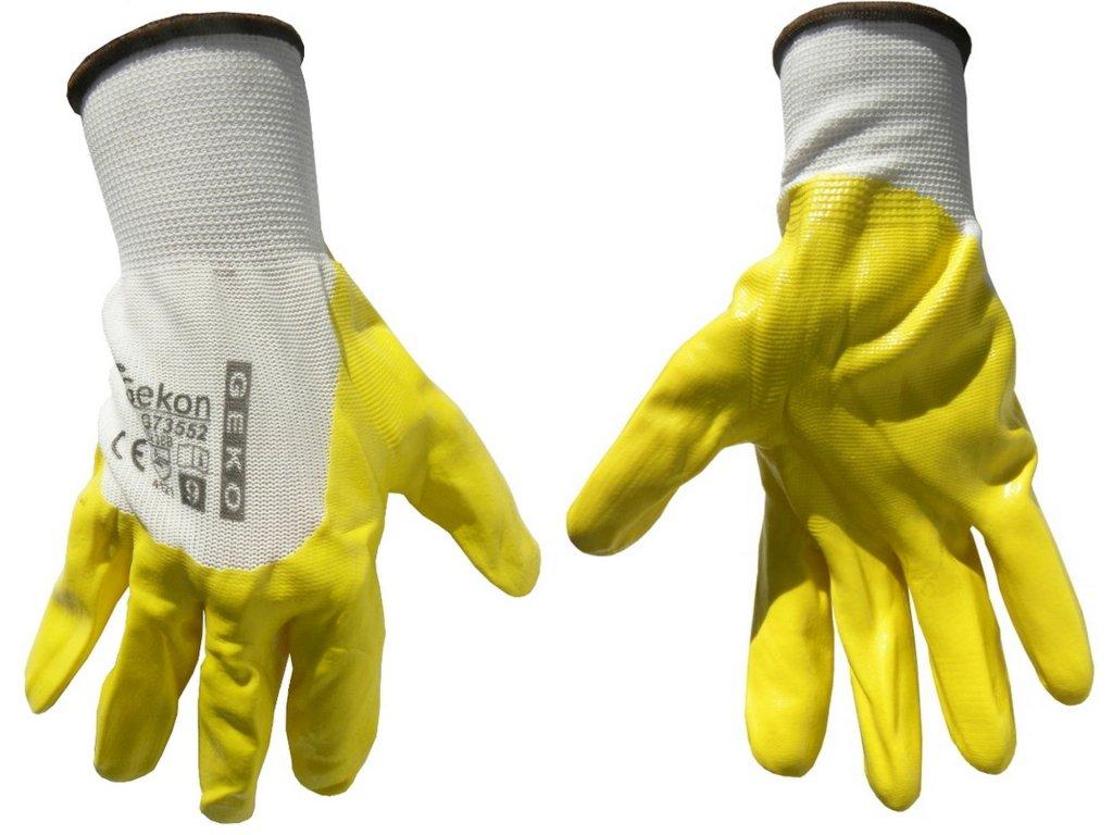 "Pracovné rukavice 9"" yellow"