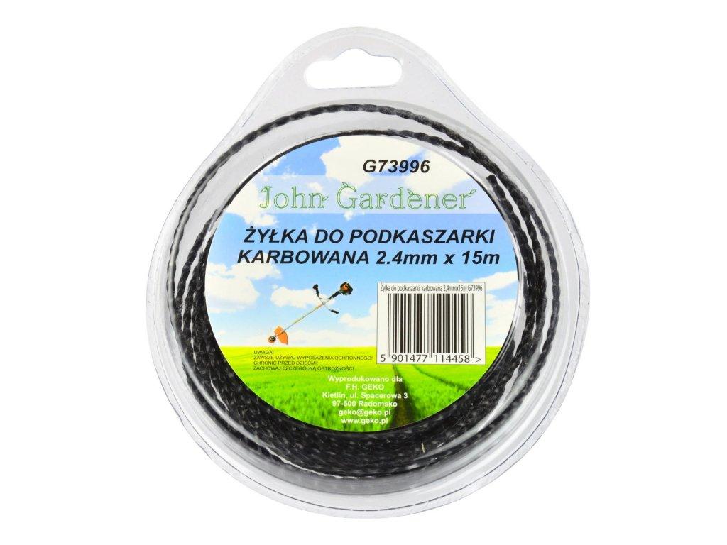 Lanko do vyžínačov 2,4mm 15m karbon