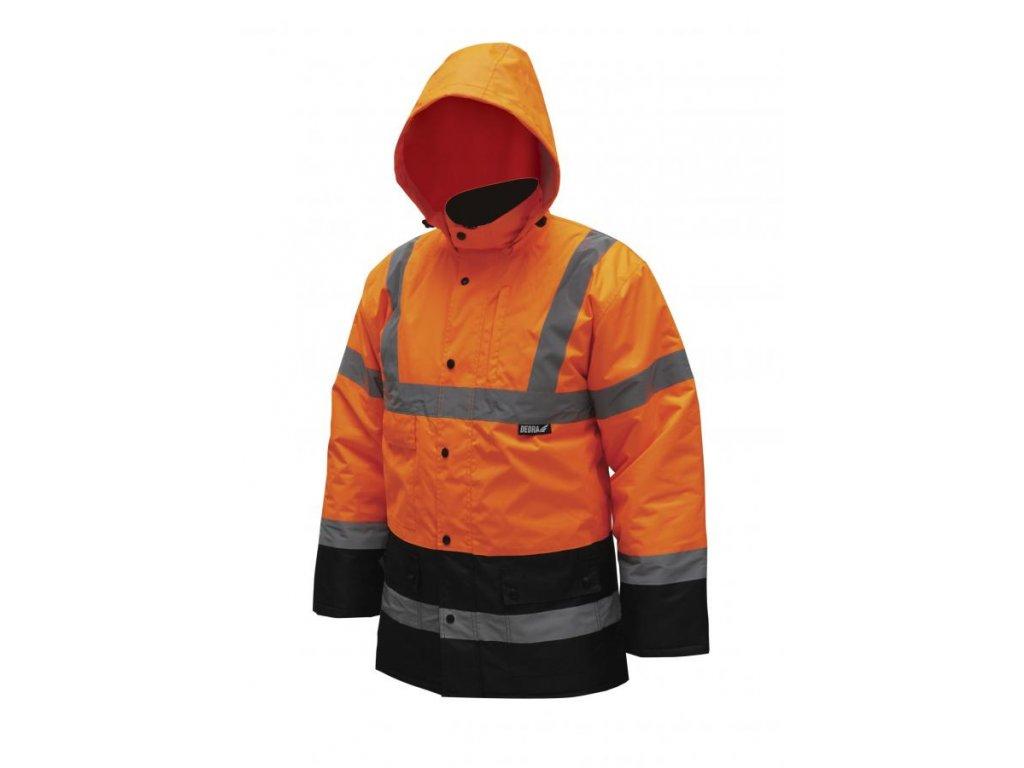"""Zateplená reflexná bunda """"parka"""" veľkosť S,oranžová"""