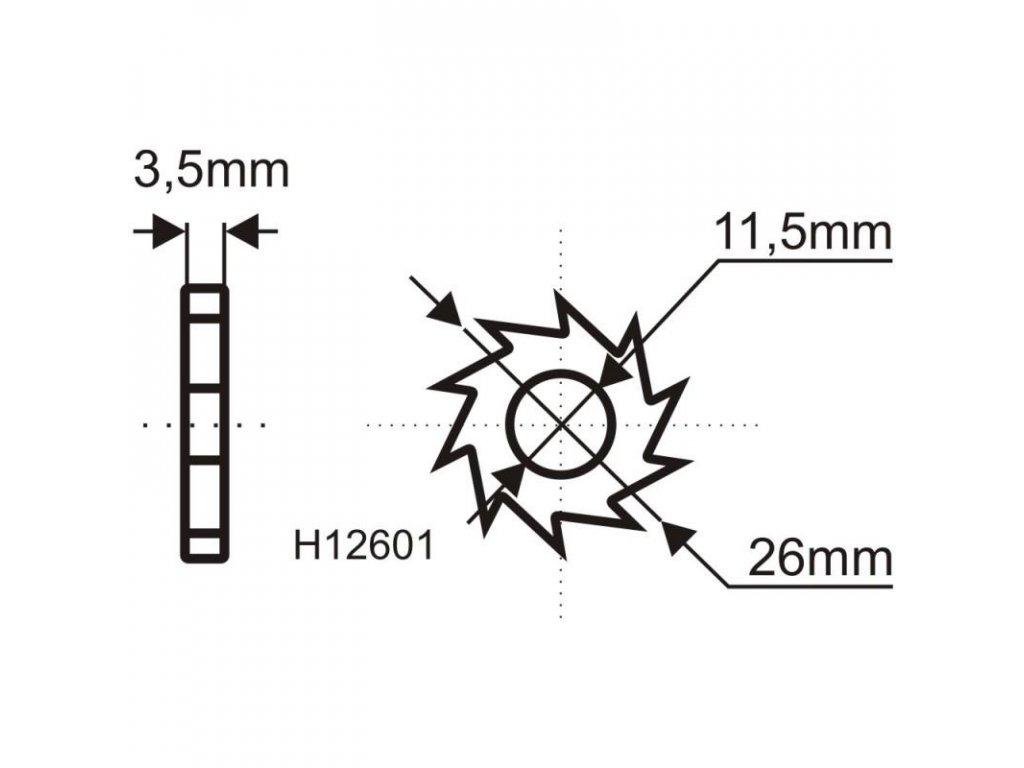 Brúsny kotúč na odstránenie farieb a lepidiel 135mm