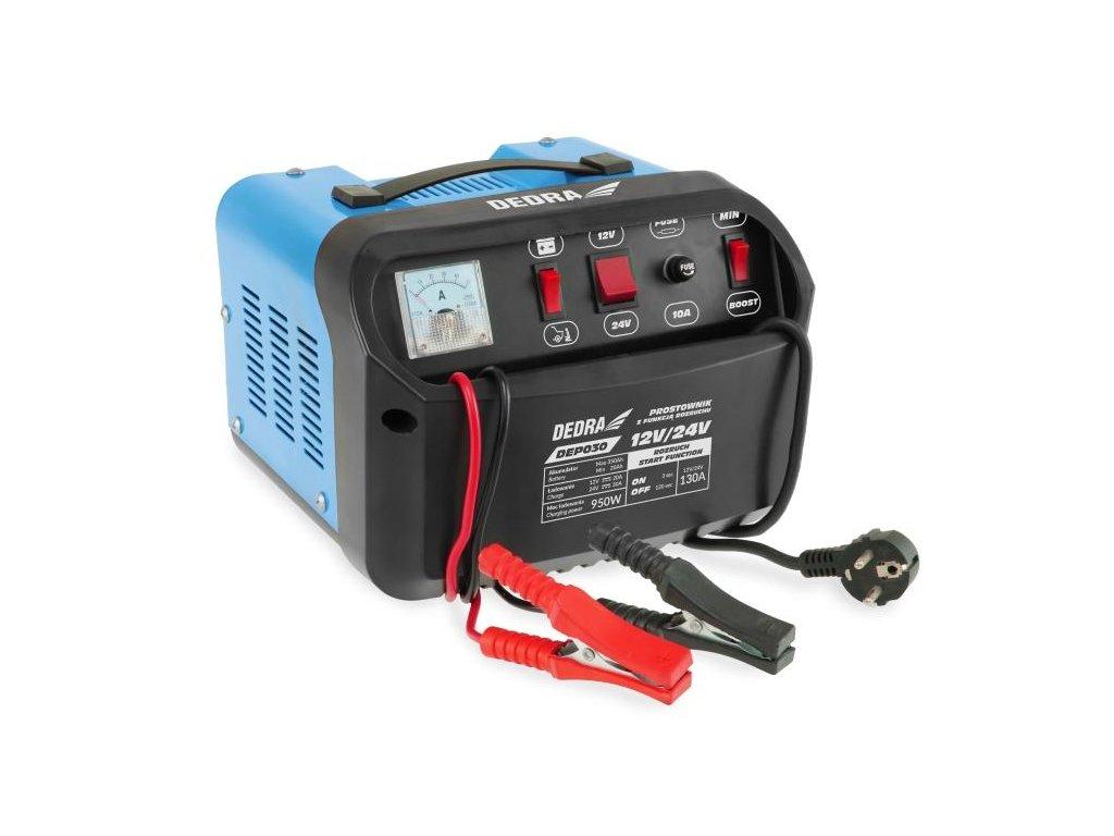 Nabíjačka autobatérií s pomocným štartovačom 12/24V 20-350Ah - DEP030
