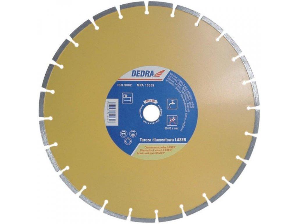 Kotúč diamantový Laser 125x22,2mm DEDRA