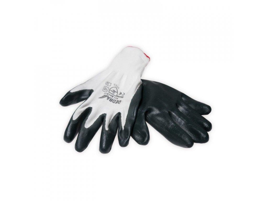 Ochranné rukavice potiahnuté nitrilom (12 ks)