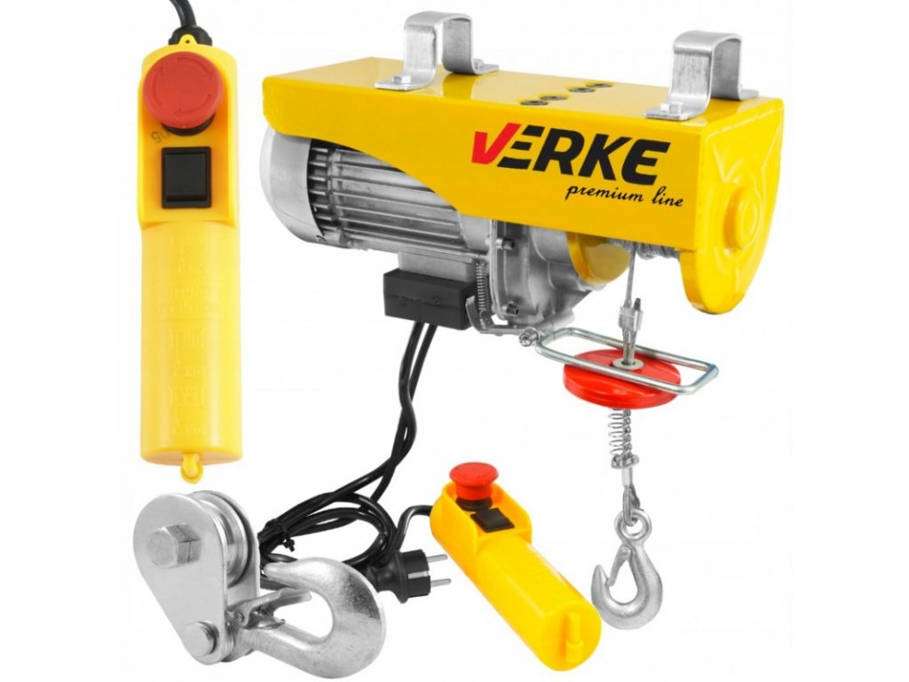 Elektrický lanový navijak 230V 300 / 600kg, VERKE V06051