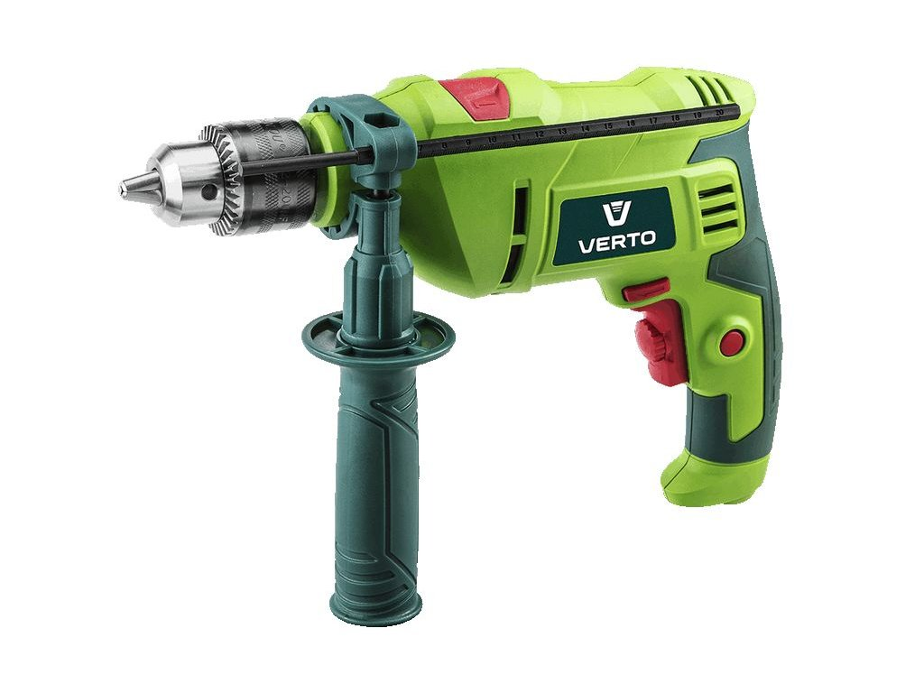 Impact drill 600W, key chuck 13 mm, BMC + accessories VERTO  50G519
