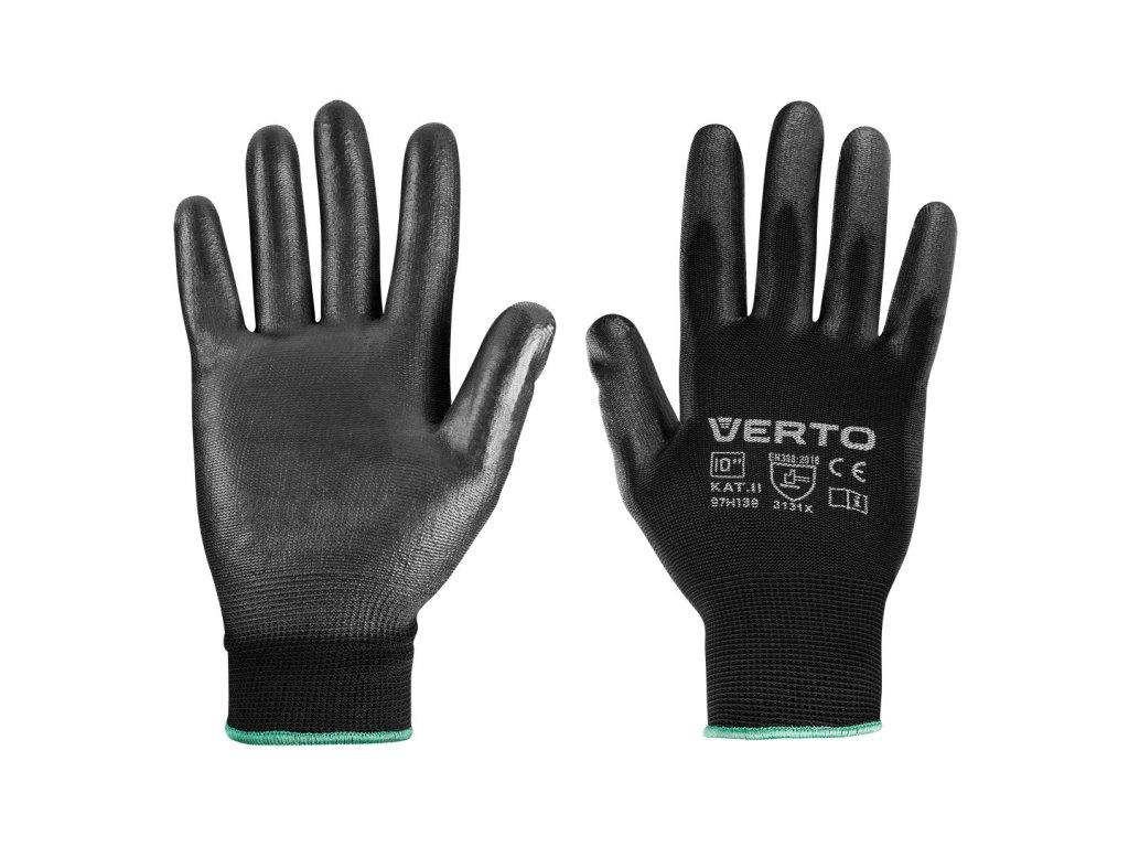 """Záhradné rukavice, potiahnuté PU, veľkosť 10 """" VERTO  97H138"""