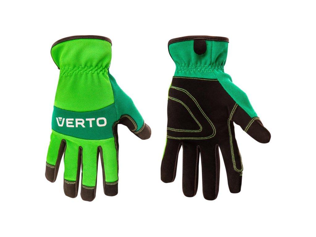 """Pracovné rukavice, syntetická koža, 9 """" VERTO  97H121"""