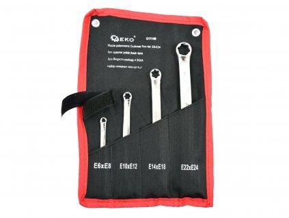 Kľúče očko torxové nástenné 4ks 6 - 24mm