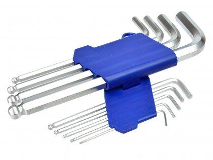 Sada imbusových stredných kľúčov s guľôčkou 1.5 - 10mm 9ks
