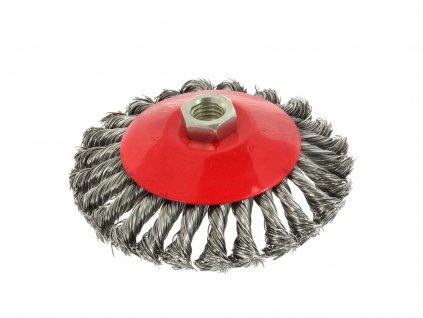 Kotúčová drôtená kefa kruhová - pletený drôt 125mm