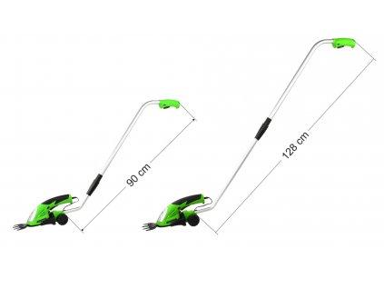 Aku zastrihávač trávy,kríkov s držadlom 7,2V