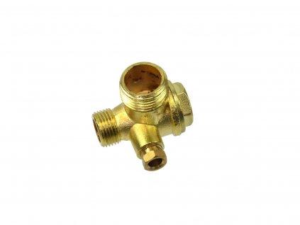 """Spätný ventil na kompresor 1/2"""" x M14 x 1/4"""""""