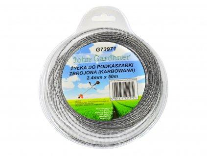 Lanko zosilnené do vyžínačov 2,4mm 50m karbon