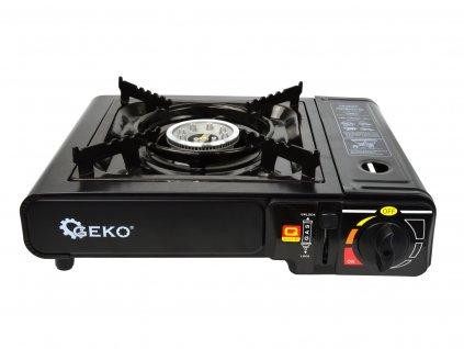 Campingový plynový varič v kufríku