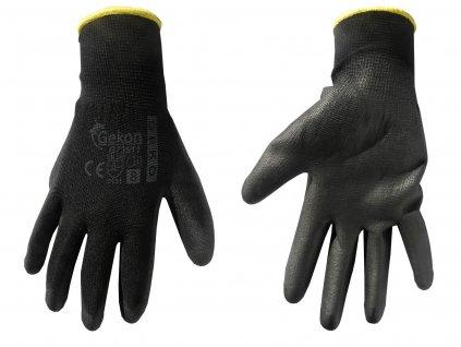 """Pracovné rukavice PU 8"""" Black"""