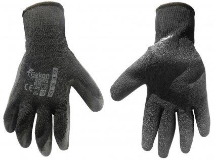 """Pracovné rukavice 10"""" hrubé Black"""