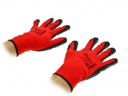 """Pracovné rukavice 9"""" Red Nitril"""