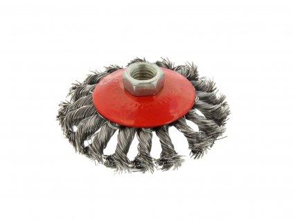 Kotúčová drôtená kefa kruhová - pletený drôt 100mm M14