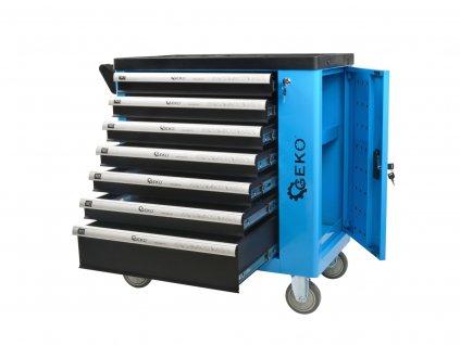 Montážny vozík s náradím 6 zásuviek so skrinkou 250ks