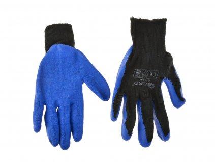 "Pracovné rukavice zateplené 8"" BLUE"