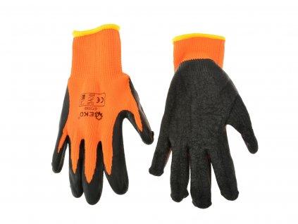 "Pracovné rukavice zateplené 8"" ORANGE"