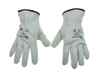 """Celokožené pracovné rukavice z kozinky 9"""""""
