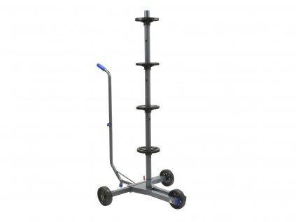 Stojan na kolesá s krycou plachtou mobilný