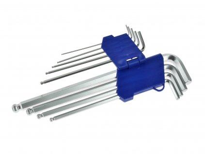 Sada imbusových dlhých kľúčov s guľôčkou 1.5 - 10mm 9ks