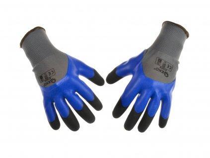 """Pracovné rukavice 3/4 LATEX 10"""" posilnené"""