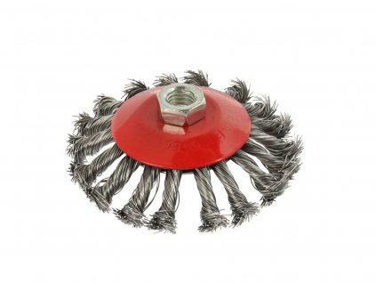 Kotúčová drôtená kefa kruhová - pletený drôt 115mm