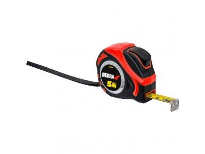 Meter 5m/19mm, červený, auto-blokáda, magnet, dvojstranná páska, pogumovaný kryt, nylon, blister - M591P