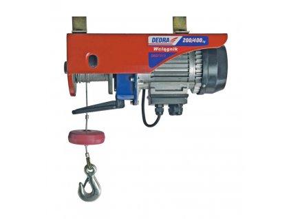 Elektrické zdvíhacie zariadenie lanové 1000W,400/kg/6m; 200/kg/12m - DED7913