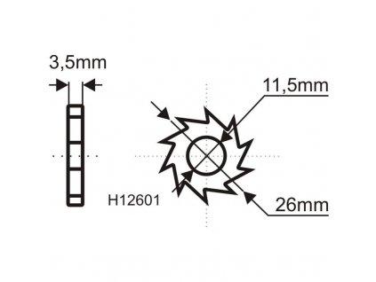 Opravárenská sada pre brúsny kotúč na odstránenie farieb a lepidiel H1260
