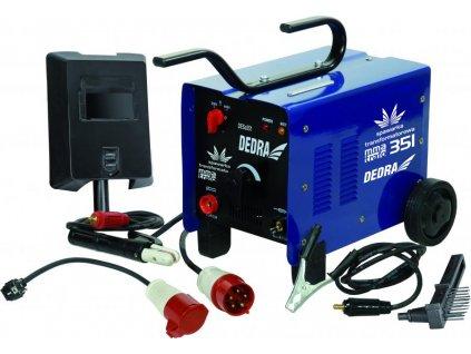 Transformátorová zváračka 250A 230V/400V V balení káble so svorkou a držiakom elektród v dĺžke 1,5m, štít, kladivko, kefka. Váha 22kg.
