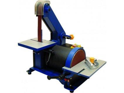 Brúska tanierová a pásová na drevo 300W, priemer kot.127mm, pás 762x25mm